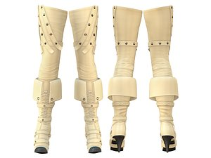 3D fashion beige leather thigh