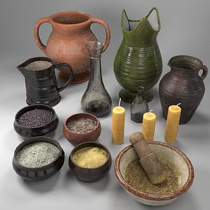 Herbs Bowl Set 3D