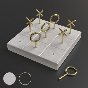Accessory Marble Tic Tac Toe NikkisPride Board Game 3D
