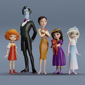 3D heroes princess model