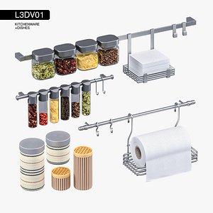 3D kitchenware kitchen rails model