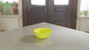 Yellow bowl 3D