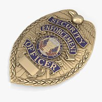 US Police Badge Brass