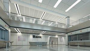 Bank lobby 6 3D model