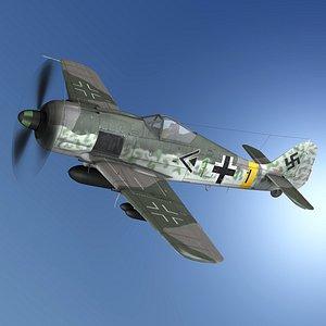 Focke Wulf - FW190 F8 - Green 1 model