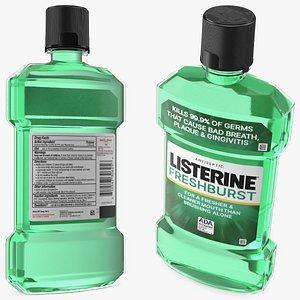Listerine Freshburst Antiseptic Mouthwash 500ml 3D