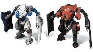 3D robot mech mecha
