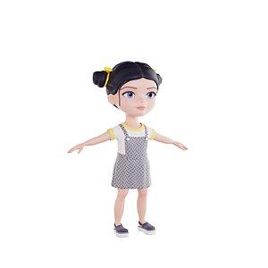 3D girl brunette model
