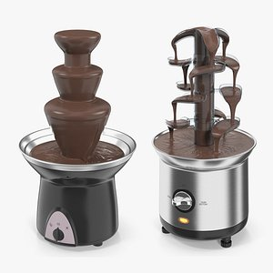 3D chocolate fountain machines