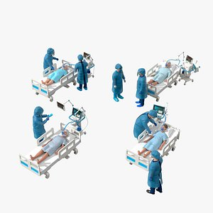 3D Medical People 10 Covid