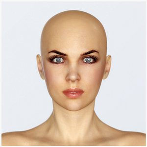 3D Realistic Female Base - Low Poly PBR