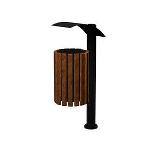 wood wooden bin 3D model