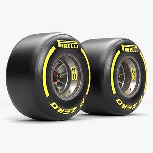 3D F1 Wheel model
