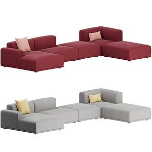 corner sofa 02 connect 3D model