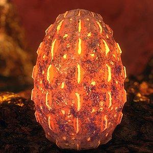 handpainted egg - 3D
