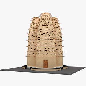 3D model Pigeon Houses Katara Cultural Village