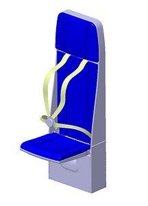 3D attendant seat