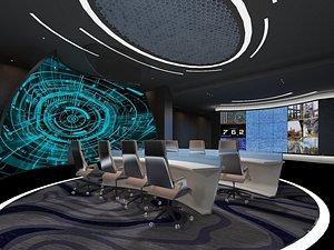 Monitoring room, command center, control room, central control room, monitoring center, general cont 3D model