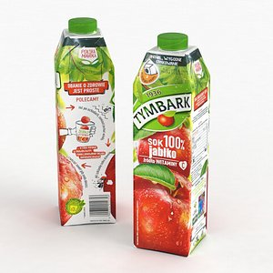 Tymbark Apple Juice Box Carton 1000ml 2021 3D model