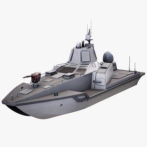 3D USV JARI Military AI Drone Ship