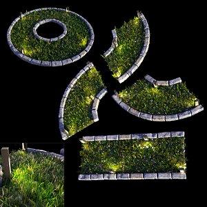 grass light set 3D model