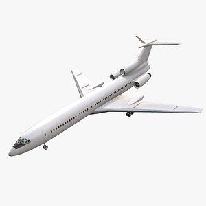 Tupolev Tu-154 Blank Animated 3D model
