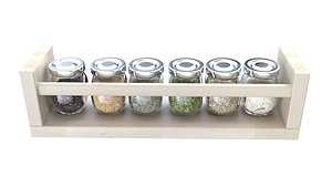 rack spice jar 3D model