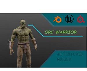 3D Orc Warrior PBR 4k textures model