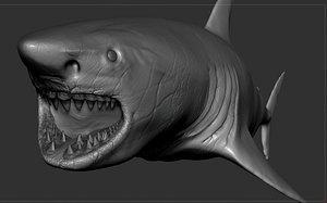 great shark sculpt 3D