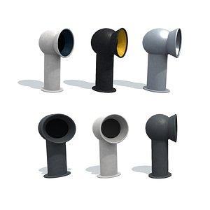 Deflector B v2. Part-1. 3D model