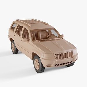 3D model 1998 Jeep Grand Cherokee