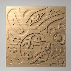 northwest coast art panel 3D model