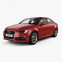 Audi A3 S-line Worldwide sedan with HQ interior 2013