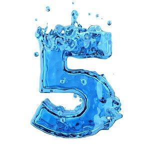 3D model number liquid 5