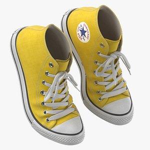 Basketball Shoes Bent Yellow 3D