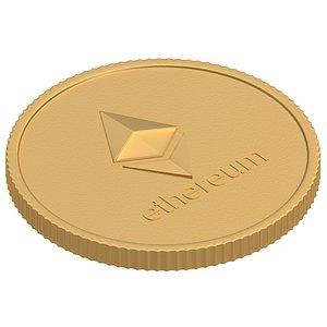 3D ethereum coin