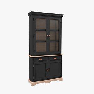 sideboard black wood 3D model