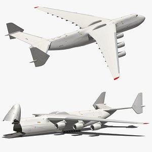 Antonov An225 White Livery 3D model