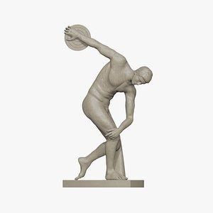 Discobolus Thrower Statue 3D model