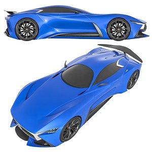 Infiniti Vision GT Concept Blue 3D model
