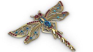 jewelry dragonfly 3D model