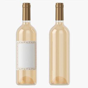 3D Wine bottle mockup 01