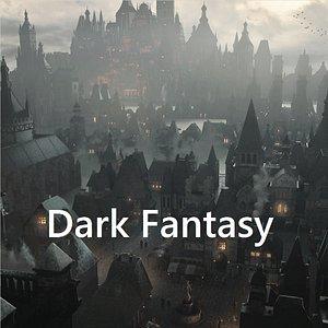 3D fantasy dark model