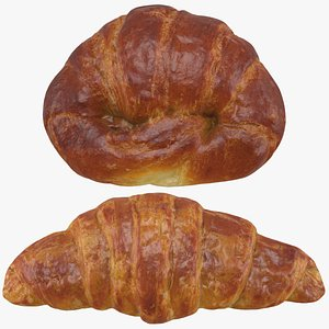 3D model Butter and Margarine Croissant