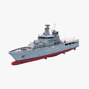 3D Lurssen OPV 80 Patrol Vessel