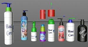 batcher bottle hand 3D