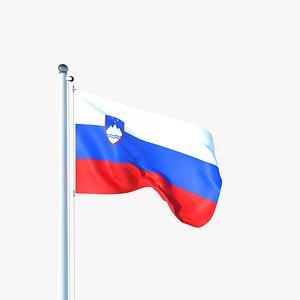 Animated Flag of Slovenia 3D model
