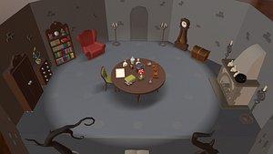3D model magic room