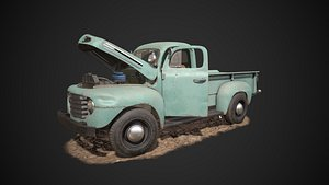 Ford Pickup F1 1948 high-poly and low-poly 3D model