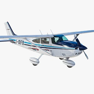 realistic ultralight airplane cessna 182 model